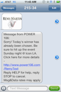 MMS mobile text campaign