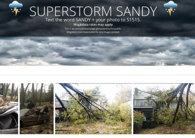 sandy text storm mobile